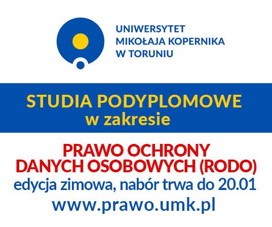 Nabór zimowy na Studia Podyplomowe w zakresie Prawa Ochrony Danych Osobowych (RODO)