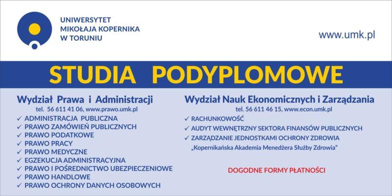 Rozwijaj się i studiuj na UMK w Toruniu – nabór na Studia Podyplomowe trwa